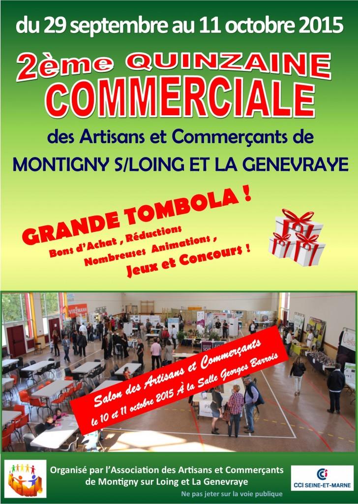 Salon des artisans et commerçants de Montigny sur Loing le 10 et 11 octobre 2015 (recto)