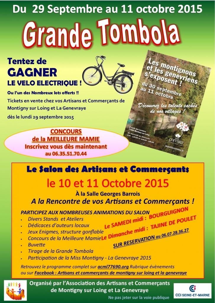 Salon des artisans et commerçants de Montigny sur Loing le 10 et 11 octobre 2015 (verso)